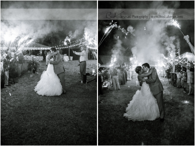 A sparkler send off was just the perfect ending to such a wonderful wedding!