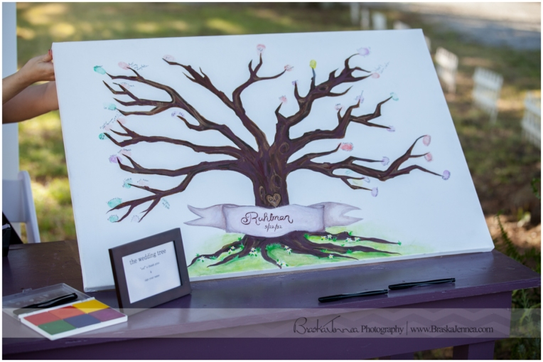 """The """"Guestbook"""" was a thumbprint tree...brilliant!"""