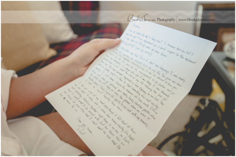 David gets mad props for the letter he wrote to his Bride to be...and his wedding gift choices!
