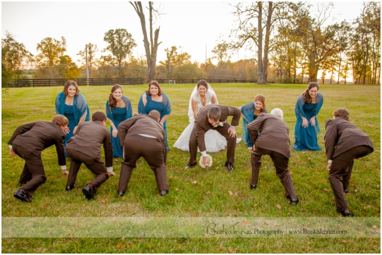 Football Wedding Party Pose Photo