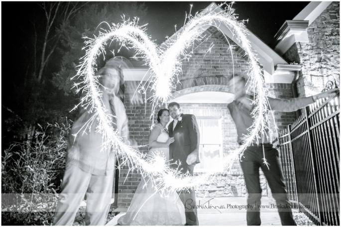 Sparkler Exit Wedding Photo