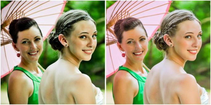 Left: The Original BJP Edit from 2010    Right: The updated BJP Professional Retouching and Edit style!  What a difference years, training, and workshops make!