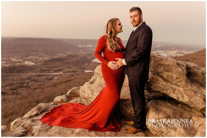 A Lookout Mountain Sunset Rock Maternity Session - Chattanooga Family Photographer - BraskaJennea Photography_0040.jpg