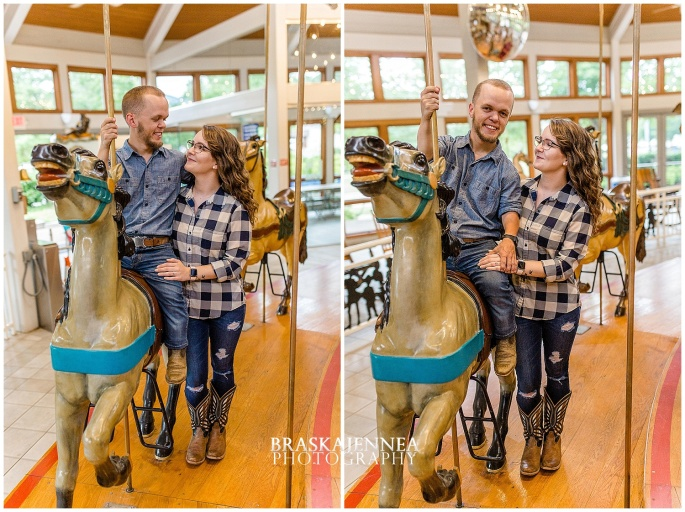 Downtown Chattanooga Coolidge Park Carousel Engagement - Chattanooga Wedding Photographer - BraskaJennea Photography_0005.jpg