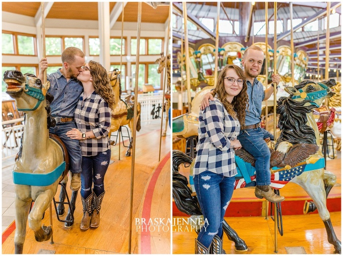 Downtown Chattanooga Coolidge Park Carousel Engagement - Chattanooga Wedding Photographer - BraskaJennea Photography_0009.jpg