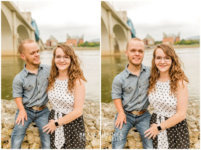 Downtown Chattanooga Coolidge Park Carousel Engagement - Chattanooga Wedding Photographer - BraskaJennea Photography_0026.jpg